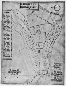 The 17th-century ground plot for Lisnagarvey (Lisburn). © Copyright ILC&LM.