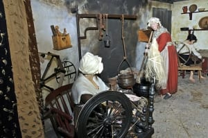 'Flax to Fabric': A weaver's cottage. © Copyright ILC&LM.