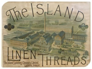 Poster for the Island Spinning Co., Lisburn. © Copyright ILC&LM.