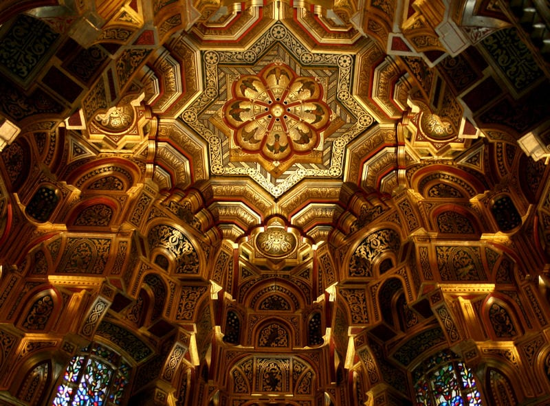Arab Room, Cardiff, in the refurbished Victorian Gothic Revival mansion.
