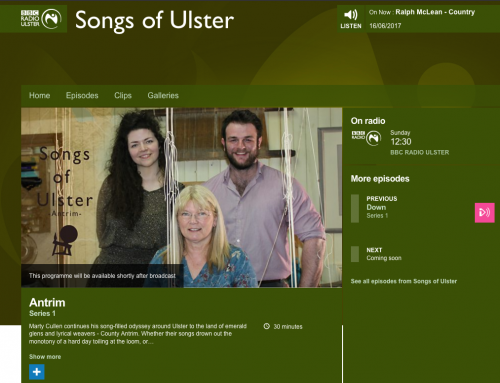 BBC Ulster's Songs of Ulster – The Wee Weaver, a collaboration