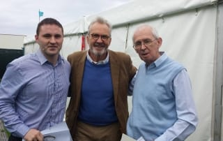 Ciaran Toal, Larry Lamb and Ernie Cromie at the Airwaves Portrush Shows in September 2014.