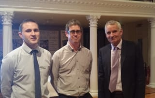 Ciaran Toal, Fearghal McGarry and Brian Mackey in Lisburn Museum