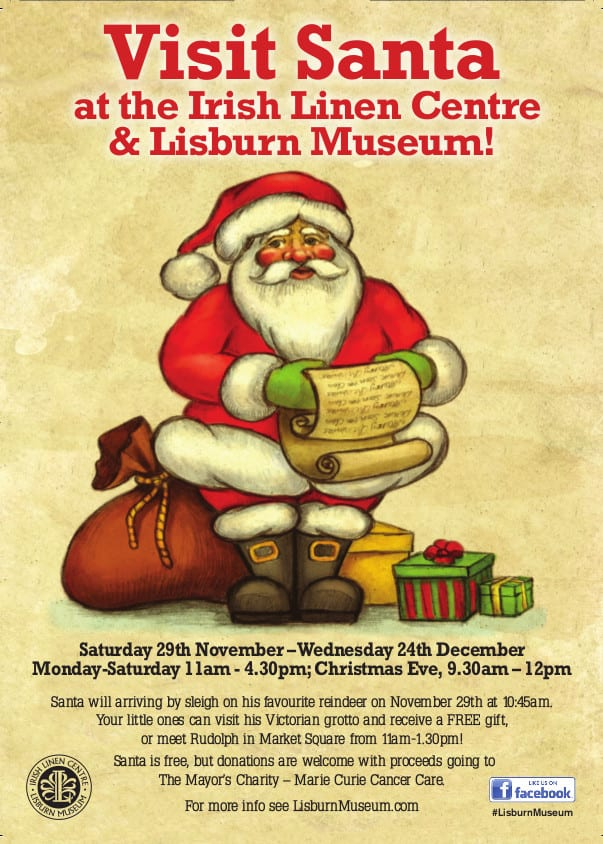 Visit Santa at the Irish Linen Centre and Lisburn Museum