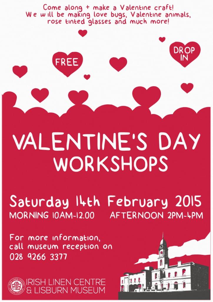 Free Valentine's workshops at teh Irish Linen centre & Lisbrun Museum 2015