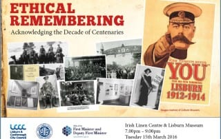 Talk by Eamon Phoenix and Philip Orr on Ethical Remembering March 15th 2016 Lisburn Museum