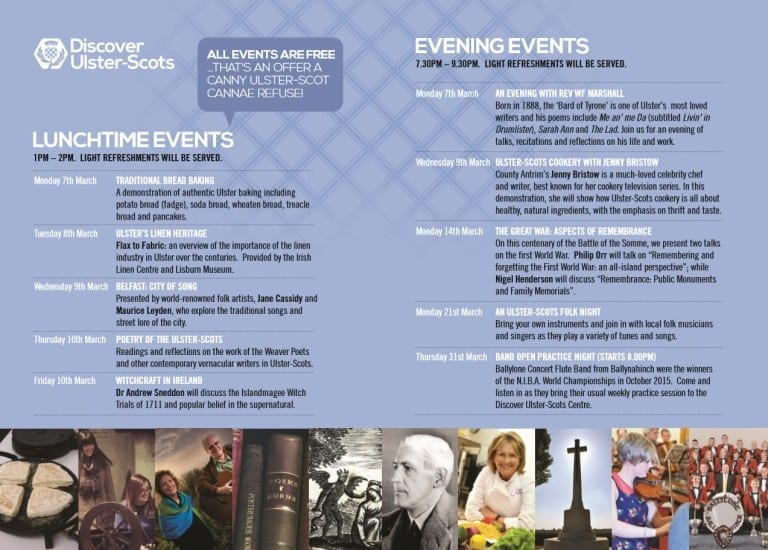 History Irish Linen Ulster Scots Community Network Season of Events 2016 irish linen centre lisburn museum flyer