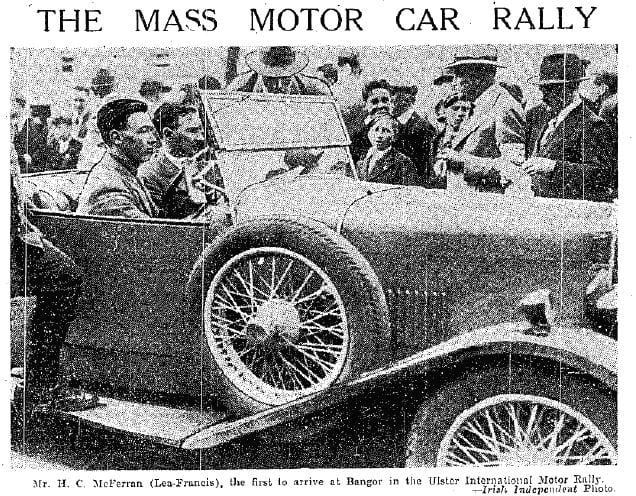 Ulster Motor rally Circuit of Ireland competitor 1931