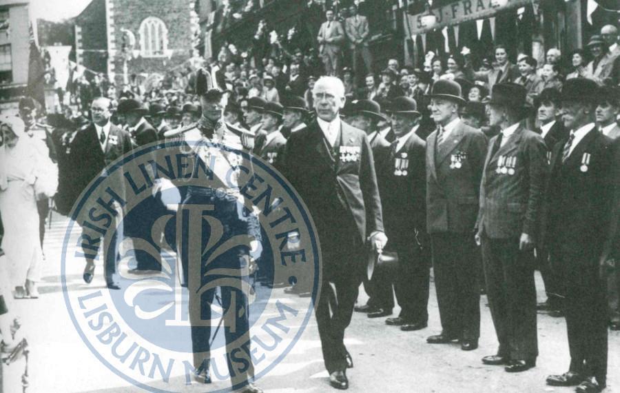 George VI in Market Square VI Sgt Davis lisburn