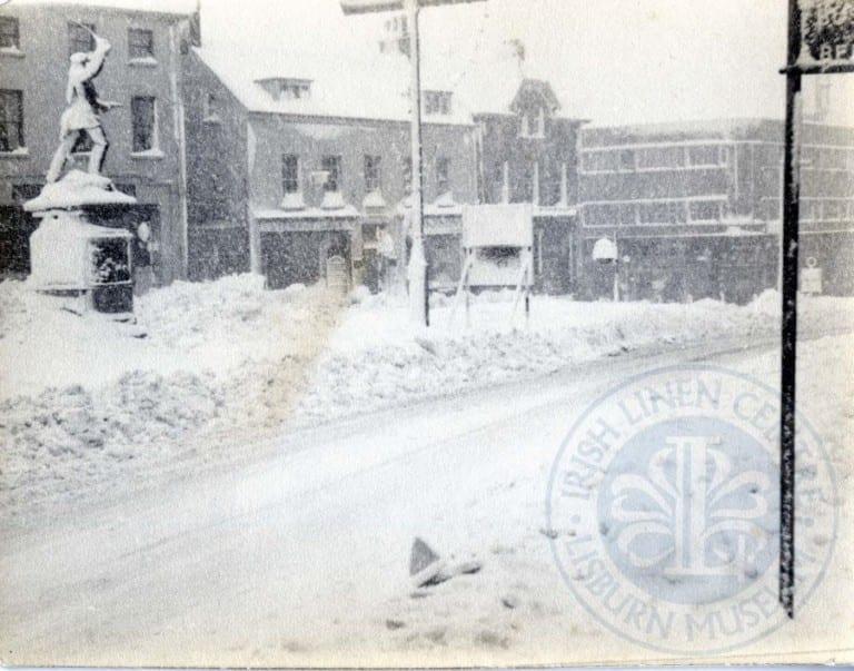 MArket Square in the snow
