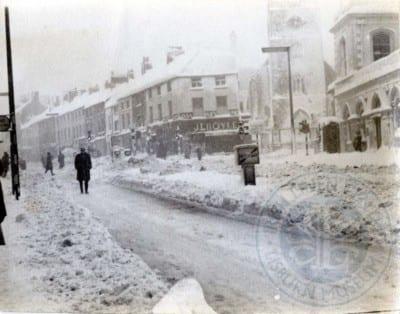 Market Square North in the snow, c.1963