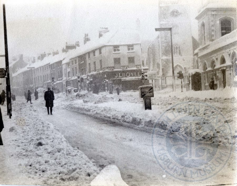 Market Square North in the snow, c.1963