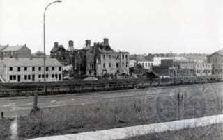 Stannus Place and Hancock Street, viewed from the Queens Road, c.1980s.
