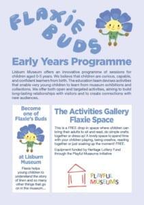 Flaxie buds Kids programme Irish Linen Centre lisburn museum