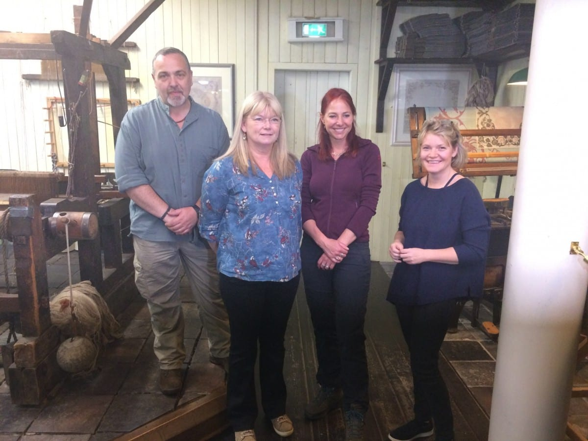 Alice Roberts visit to the Irish Linen Centre & Lisburn Museum