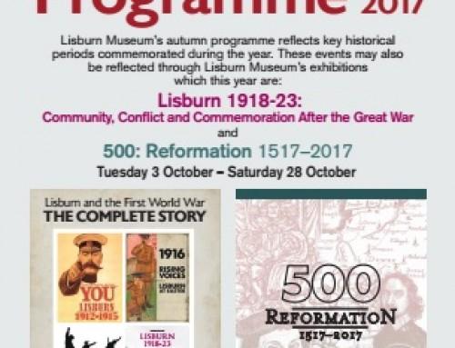 Free Autumn Talks Programme 2017