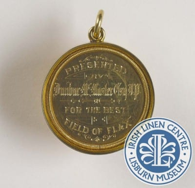 From the Collections - Irish Linen Centre Lisburn Museum - Flax Medal dunbar McMaster