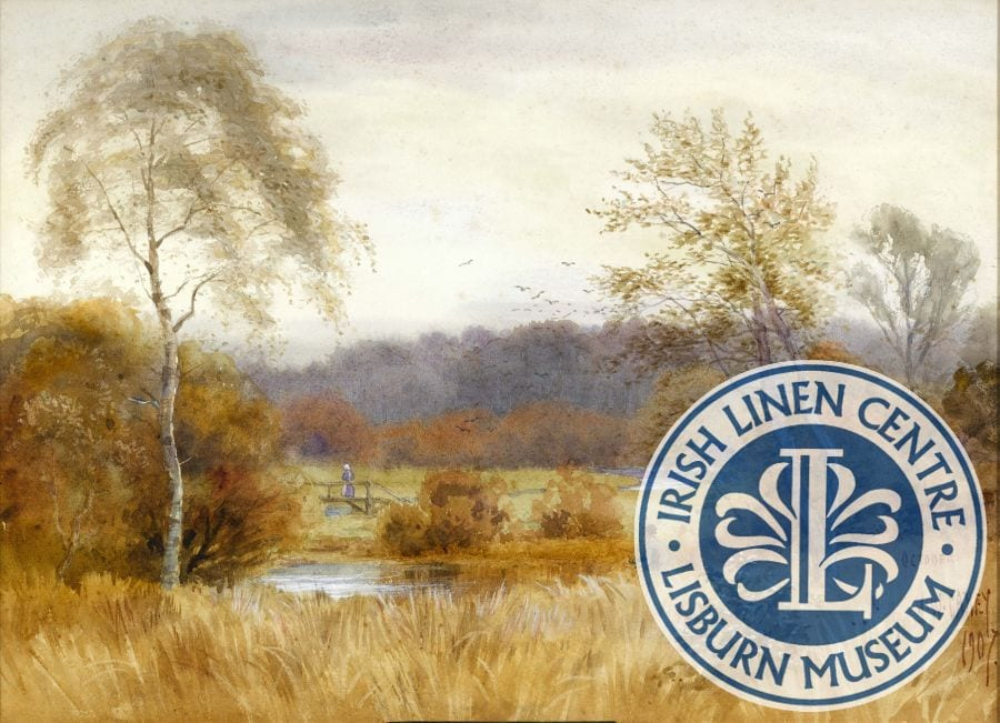 From the Collection: a view of the River Lagan, Joseph W Carey (1859-1937), 'October, 1907'