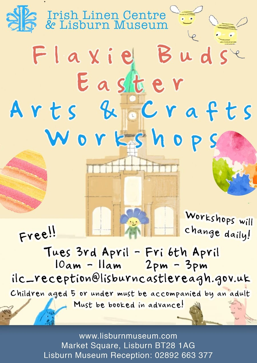 Flaxie Buds Free Easter Arts And Crafts Workshops Irish Linen