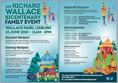 The Sir Richard Wallace Family Event Wallace Park Programme of Events Sat 23rd June 2018