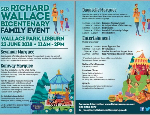 The Sir Richard Wallace Bicentenary Family Event – Detailed Programme