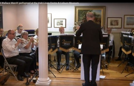 The Sir Richard Wallace March performed at the Irish Linen Centre & Lisburn Museum 2018