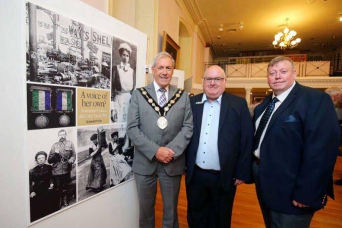 The Mayor and Alderman Porter with Paul Allison, Museum Manager