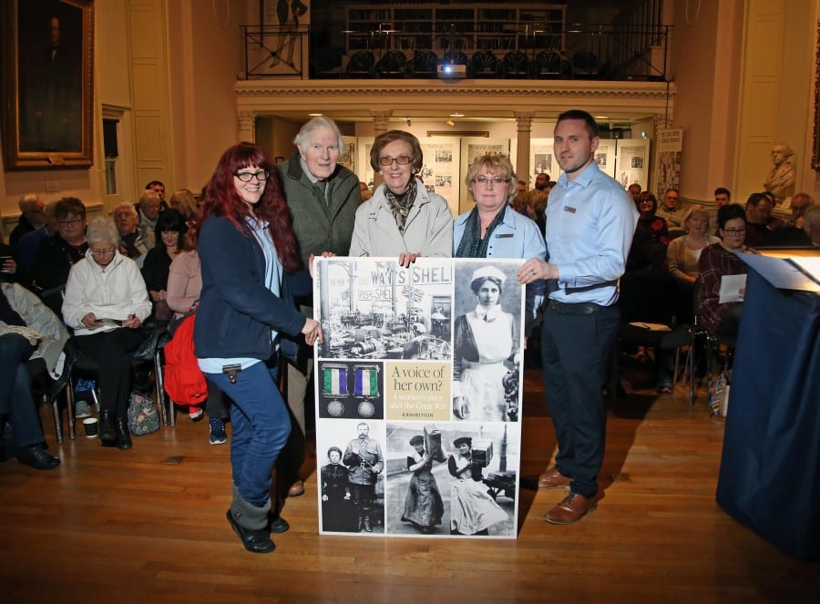 Talk on Lisburn Suffrage, Mrs Metge and the Cathedral Bomb - Mrs and Mrs Bell