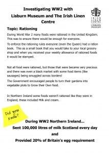 rationing worksheet