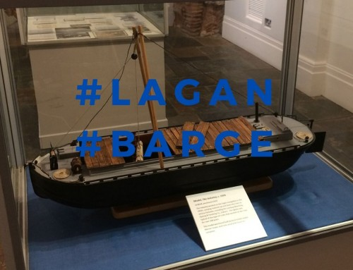 Object: model of a Lagan Barge