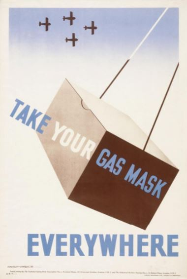 Poster, Take Your Gas Mask Everywhere, 1939