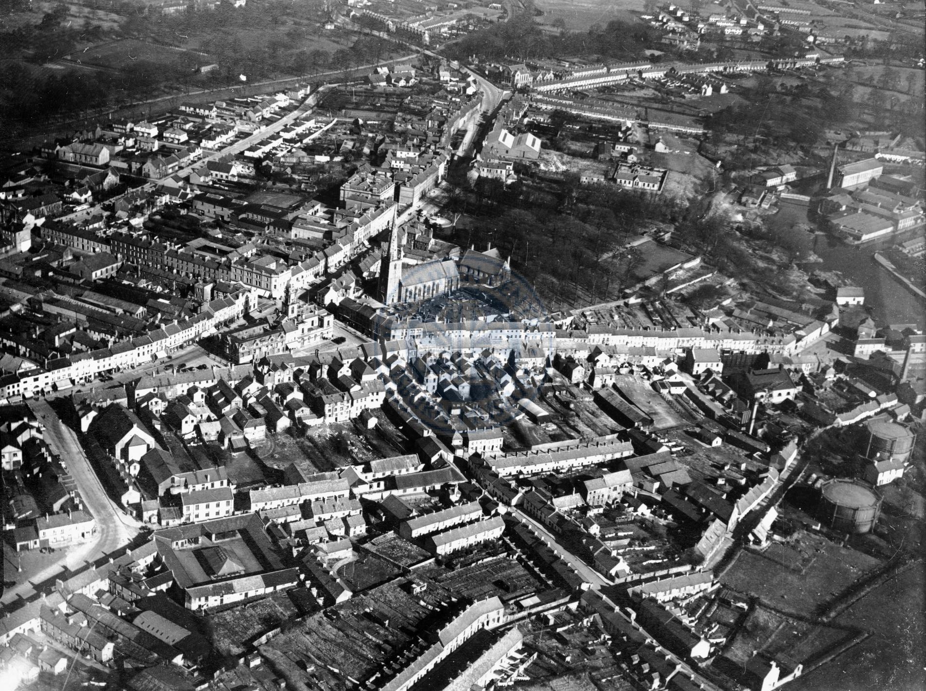 Aerial View of Lisburn, 1938