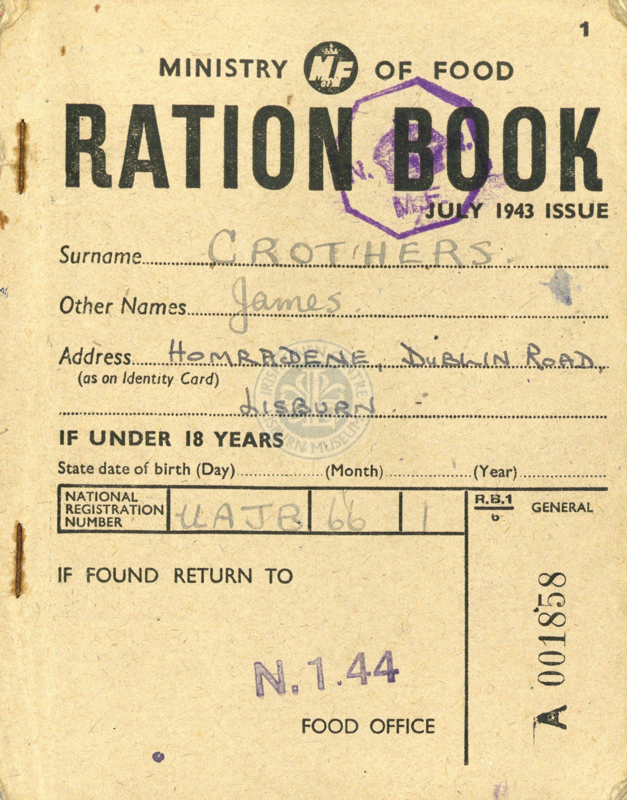 Ration Book, Lisburn