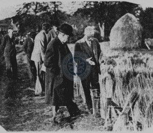 Prime Minister Stanley Baldwin at LIRA, Lambeg