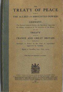 Treaty of Versailles First Editionn