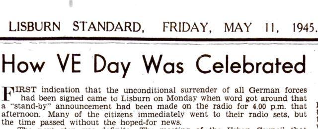 Lisburn Standard - How VE Day was celebrated in Lisburn