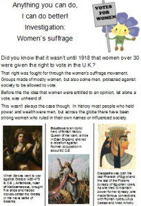 Votes for women 1