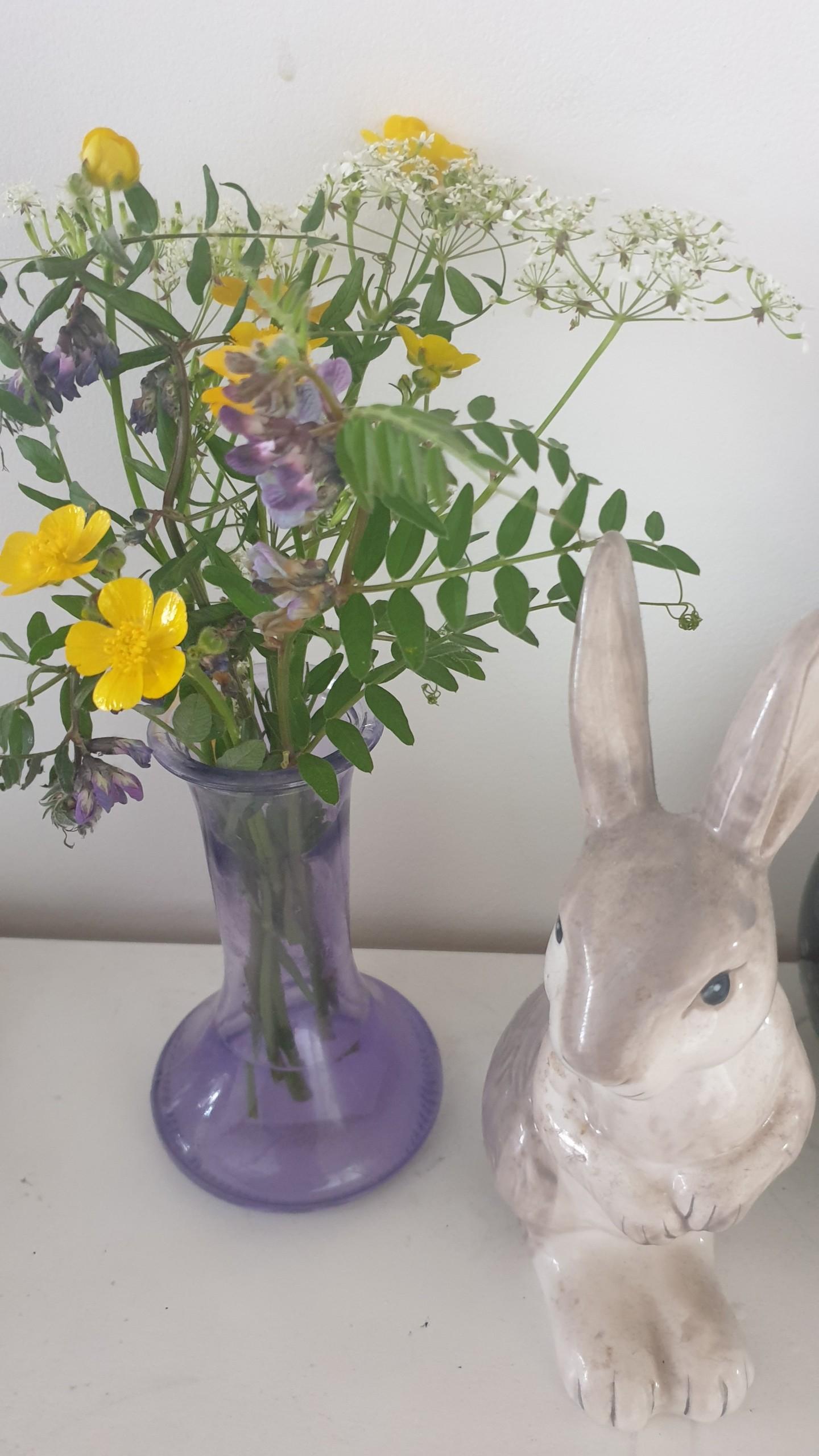 posey in vase