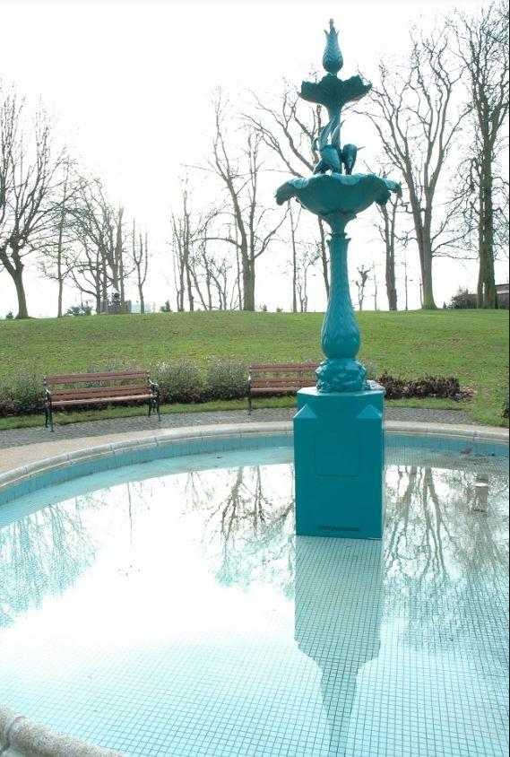 Egret Fountain Castle Gardens