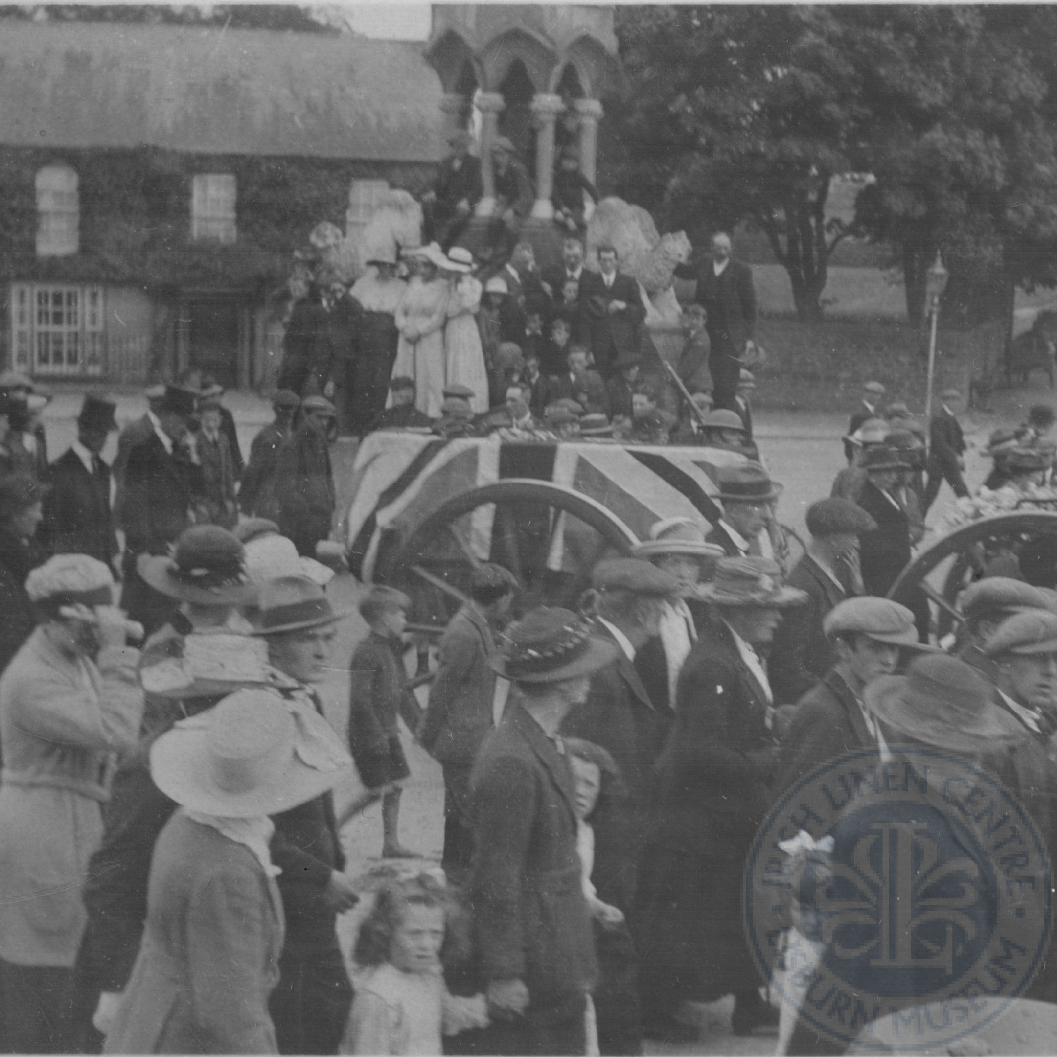 Smyth's funeral cortège in Banbridge, July 1920