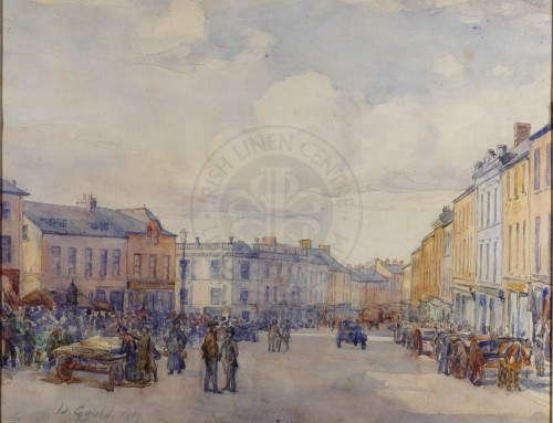 Painting: David Gould, Market Square, 1919