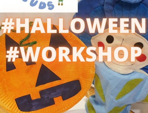 Video: Flaxie Buds Halloween Workshop – Paper Plate Pumpkin!