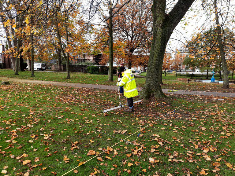 Geohphysical Survey in Castle Gardens November 2020