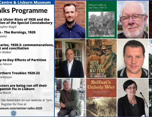 Winter Talks Programme 2020 feat Pearse Lawlor, Chris Magill, Brian Walker, Cormac Moore, Alan Parkinson and Patricia Marsh