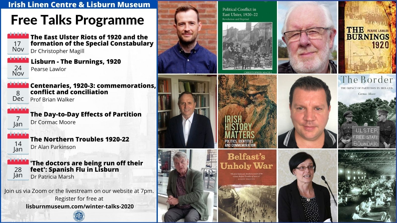 2020 Autumn Winter Talks Programme - Poster