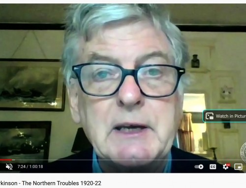 Video: Dr Alan Parkinson – The Northern Troubles 1920-22