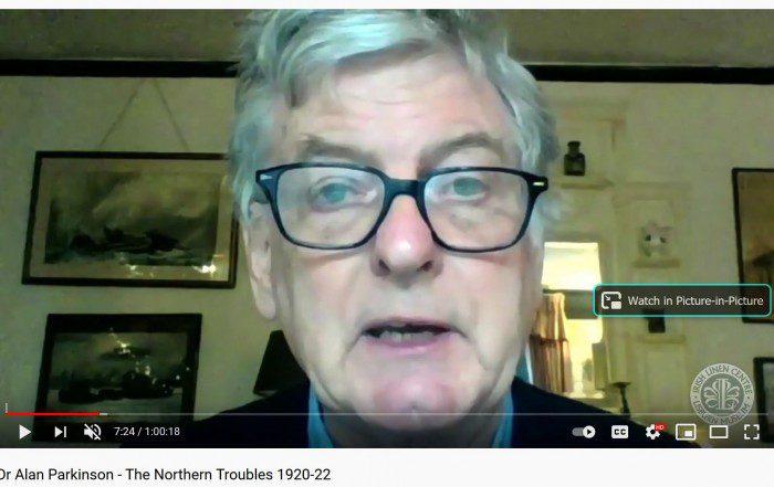 Dr Alan Parkinson Talk - the Northern Troubles 1920-22