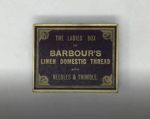 Barbours box of linen threads and needles
