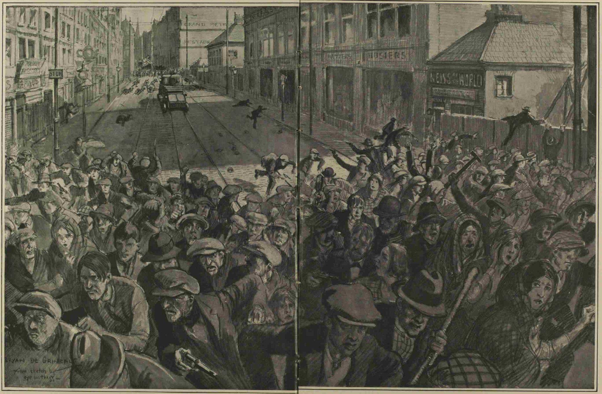 Belfast Street Battle, September 1920 - Illustrated London News