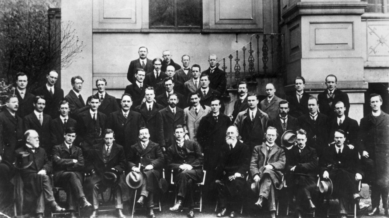 First Dáil Éireann taken at the Mansion House on 10 April 1919.